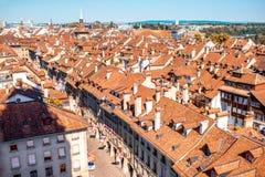 Παλαιά πόλη της Βέρνης στην Ελβετία Στοκ Εικόνες