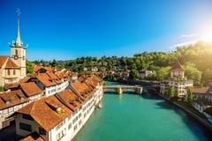 Παλαιά πόλη της Βέρνης στην Ελβετία Στοκ Φωτογραφία