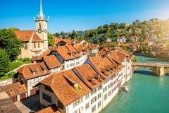 Παλαιά πόλη της Βέρνης στην Ελβετία Στοκ Φωτογραφίες