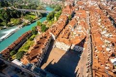 Παλαιά πόλη της Βέρνης στην Ελβετία Στοκ φωτογραφία με δικαίωμα ελεύθερης χρήσης