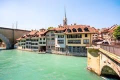 Παλαιά πόλη της Βέρνης στην Ελβετία Στοκ εικόνες με δικαίωμα ελεύθερης χρήσης