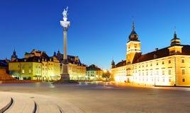 Παλαιά πόλη της Βαρσοβίας, Plaz Zamkowy, Πολωνία, καμία Στοκ Φωτογραφία