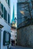 Παλαιά πόλη &#x28 της Ζυρίχης Altstadt&#x29  Στοκ Εικόνες