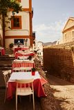 Παλαιά πόλη της Ισπανίας Ibiza των Βαλεαρίδων $νήσων Στοκ εικόνα με δικαίωμα ελεύθερης χρήσης