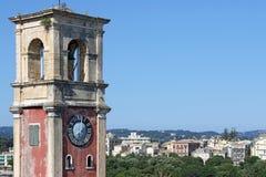 Παλαιά πόλη της Κέρκυρας πύργων ρολογιών στοκ φωτογραφία με δικαίωμα ελεύθερης χρήσης