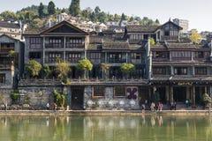 Παλαιά πόλη της κομητείας Fenghuang, Hunan, Κίνα Στοκ εικόνα με δικαίωμα ελεύθερης χρήσης