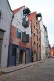 παλαιά πόλη της Ρήγας σπιτιών Στοκ Εικόνα