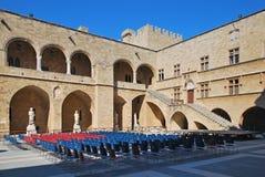 παλαιά πόλη της Ρόδου παλατιών ορόσημων της Ελλάδας grandmasters Στοκ Εικόνα