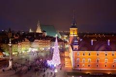 Παλαιά πόλη τη νύχτα στη Βαρσοβία Στοκ φωτογραφία με δικαίωμα ελεύθερης χρήσης