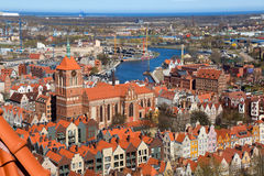 παλαιά πόλη του Γντανσκ Στοκ Εικόνες