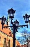 παλαιά πόλη φω'τα ουρανός Ρήγα Λετονία στοκ εικόνα με δικαίωμα ελεύθερης χρήσης