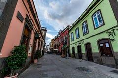 Παλαιά πόλη Arucas μια νεφελώδη ημέρα, θλγραν θλθαναρηα Στοκ φωτογραφία με δικαίωμα ελεύθερης χρήσης
