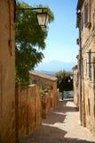 Παλαιά πόλη Castelmuzio, Τοσκάνη μεταξύ της Σιένα και της Ρώμης Στοκ φωτογραφία με δικαίωμα ελεύθερης χρήσης
