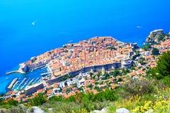 Παλαιά πόλη Dubrovnik άνωθεν Στοκ εικόνες με δικαίωμα ελεύθερης χρήσης