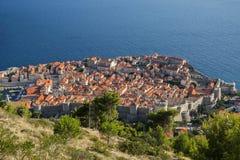 Παλαιά πόλη Dubrovnik που αντιμετωπίζεται άνωθεν Στοκ φωτογραφίες με δικαίωμα ελεύθερης χρήσης