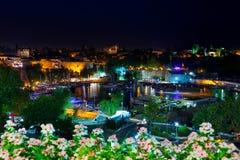 Παλαιά πόλη Kaleici σε Antalya, Τουρκία τη νύχτα Στοκ φωτογραφία με δικαίωμα ελεύθερης χρήσης