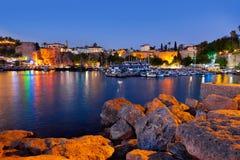 Παλαιά πόλη Kaleici σε Antalya, Τουρκία τη νύχτα Στοκ Εικόνες