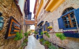 Παλαιά πόλη Kaleici σε Antalya, Τουρκία Στοκ Φωτογραφία