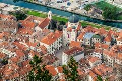 Παλαιά πόλη Kotor, Μαυροβούνιο. Kotorska Boka. Στοκ Εικόνες