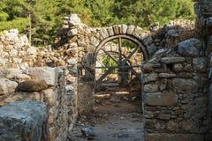 Παλαιά πόλη Olympos, Antalya Destrict, Τουρκία Στοκ Φωτογραφία