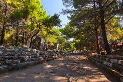 Παλαιά πόλη Phaselis σε Antalya, Τουρκία Στοκ φωτογραφία με δικαίωμα ελεύθερης χρήσης
