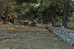 Παλαιά πόλη Phaselis σε Antalya, Τουρκία Στοκ Εικόνες