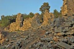Παλαιά πόλη Phaselis σε Antalya, Τουρκία Στοκ Φωτογραφίες