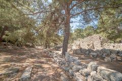 Παλαιά πόλη Phaselis, Antalya Destrict, Τουρκία Στοκ φωτογραφία με δικαίωμα ελεύθερης χρήσης