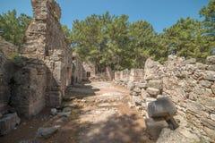 Παλαιά πόλη Phaselis, Antalya Destrict, Τουρκία Στοκ Εικόνες