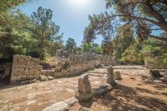 Παλαιά πόλη Phaselis, Antalya Destrict, Τουρκία Στοκ εικόνες με δικαίωμα ελεύθερης χρήσης