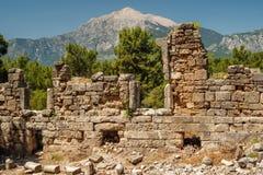Παλαιά πόλη Phaselis, Antalya Destrict, Τουρκία Στοκ Εικόνα
