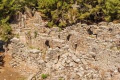 Παλαιά πόλη Phaselis, Antalya Destrict, Τουρκία Στοκ Φωτογραφίες