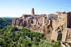 Παλαιά πόλη Pitigliano, Τοσκάνη, Ιταλία Στοκ εικόνα με δικαίωμα ελεύθερης χρήσης