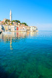 Παλαιά πόλη Rovinj στην Κροατία, αδριατική ακτή, περιοχή Istra Στοκ Φωτογραφία