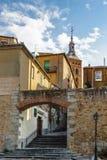 Παλαιά πόλη Segovia και του υδραγωγείου του. Κόσμος Heritageouple της ΟΥΝΕΣΚΟ του βασιλιά penguins. Στοκ εικόνες με δικαίωμα ελεύθερης χρήσης