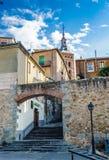 Παλαιά πόλη Segovia και του υδραγωγείου του. Κόσμος Heritageouple της ΟΥΝΕΣΚΟ του βασιλιά penguins. Στοκ εικόνα με δικαίωμα ελεύθερης χρήσης