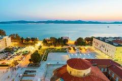 Παλαιά πόλη Zadar το βράδυ Στοκ φωτογραφία με δικαίωμα ελεύθερης χρήσης