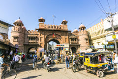 Παλαιά πύλη πόλεων σε Bikaner Στοκ Φωτογραφίες