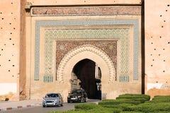 Παλαιά πύλη πόλεων Meknes με την παραδοσιακή αρχιτεκτονική - Μαρόκο Στοκ Φωτογραφίες