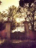 Παλαιά πύλη σε έναν μυστικό κήπο Στοκ Φωτογραφίες