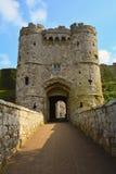 Παλαιά πύλη σε Carisbrooke Castle στο Νιούπορτ, Isle of Wight, Αγγλία Στοκ Εικόνα