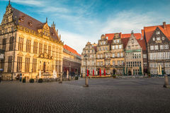 Παλαιά πλατεία της πόλης onf Βρέμη Γερμανία στοκ εικόνα