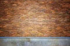 Παλαιά πλινθοδομή, ο τοίχος υποβάθρου των κόκκινων φραγμών Στοκ εικόνες με δικαίωμα ελεύθερης χρήσης