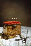 Παλαιά ράβοντας κασετίνα Στοκ εικόνες με δικαίωμα ελεύθερης χρήσης