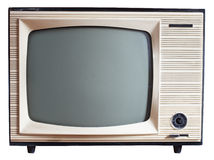 Παλαιά ρωσική συσκευή τηλεόρασης Στοκ Εικόνα