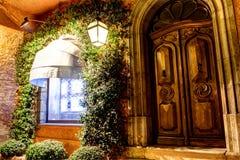 Δρύινη πόρτα Στοκ Φωτογραφίες