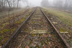 Παλαιά σειρά μαθημάτων Borkense γραμμών σιδηροδρόμων στις Κάτω Χώρες στοκ φωτογραφίες