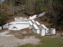 Παλαιά σκαλοπάτια πετρών στο πάρκο Arshan Buryatia Σιβηρία Στοκ Εικόνες