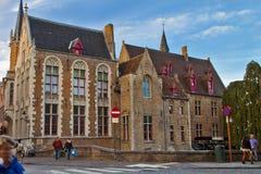 Παλαιά σκηνή πόλεων στη Μπρυζ, Βέλγιο στοκ εικόνα με δικαίωμα ελεύθερης χρήσης