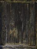 Παλαιά σκοτεινή καφετιά ξύλινη σύσταση υποβάθρου φρακτών Στοκ Φωτογραφία